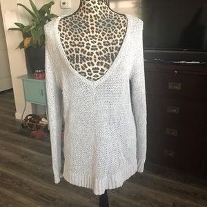 Slouchy neck sweater